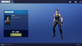 Rare Brawler Outfit Character Skin for Fortnite Battle Royale