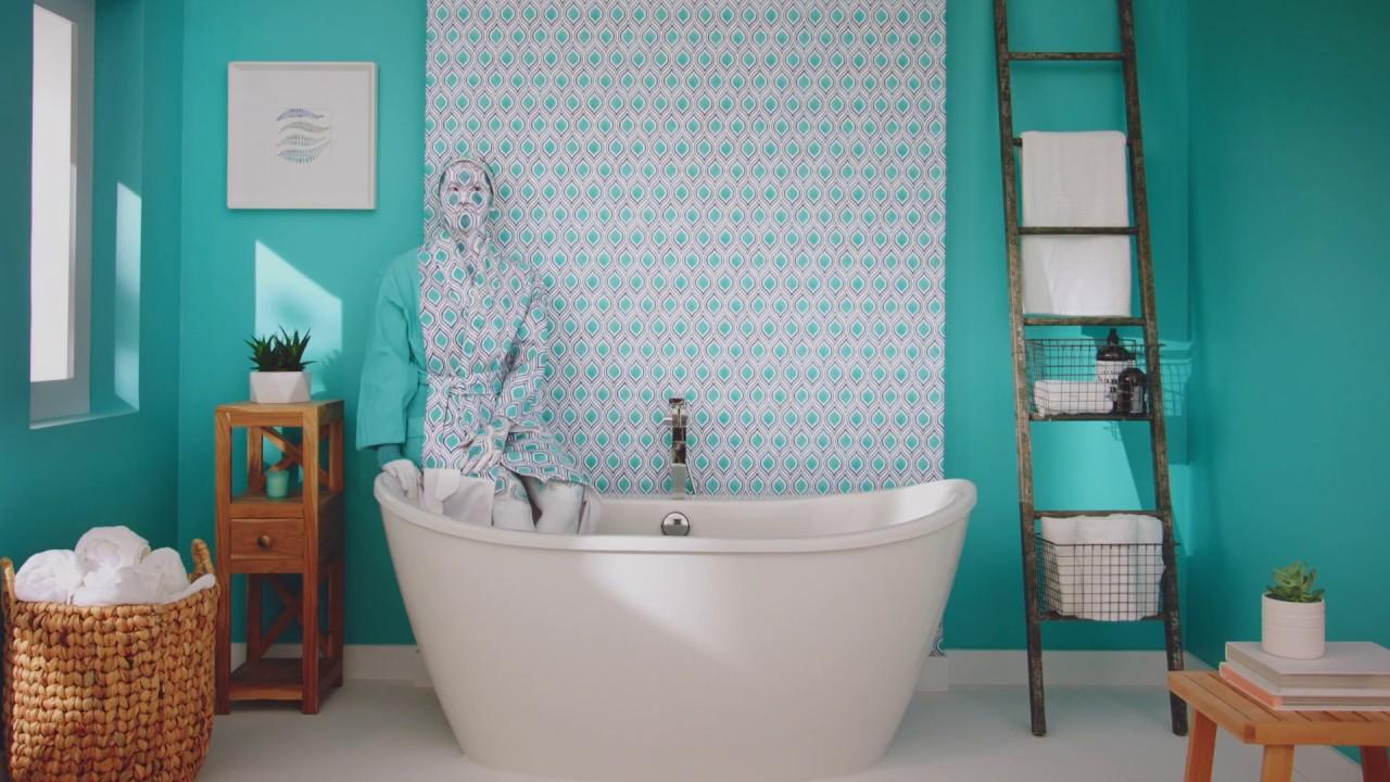 Purple Drywall Bathroom Renovation