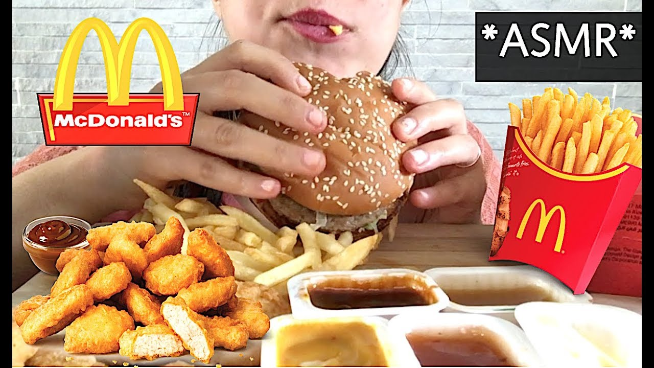 Asmr Mcdonalds Crispy Mcnuggets Big Mac Fries Sas Asmr Eating Show Eating Sounds