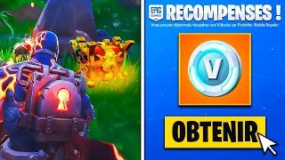 🎁 OPEN THE SECRET COFFRE - 2,000 Free V-BUCKS ON FORTNITE! (SEASON 8)