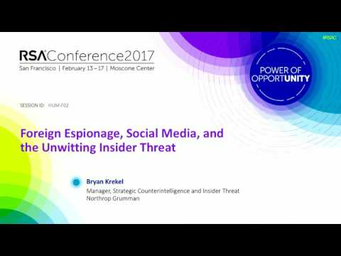Foreign Espionage, Social Media, and the Unwitting Insider Threat