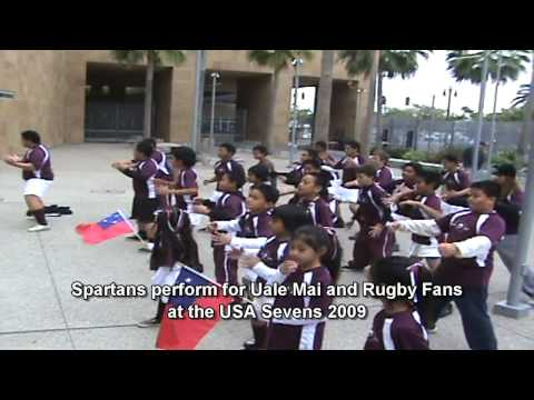 Rugby SBYR Spartans perform for UALE MAI and RUGBY FANS at PETCO