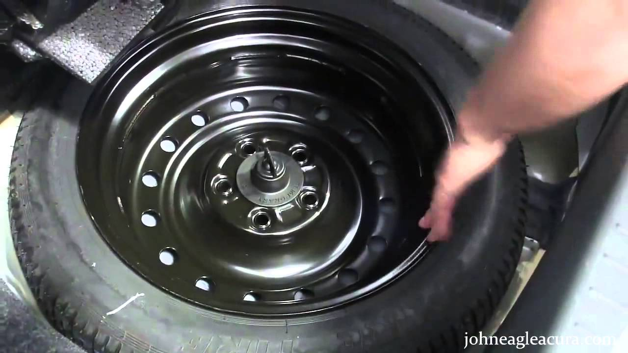 change  spare tire john eagle acura youtube