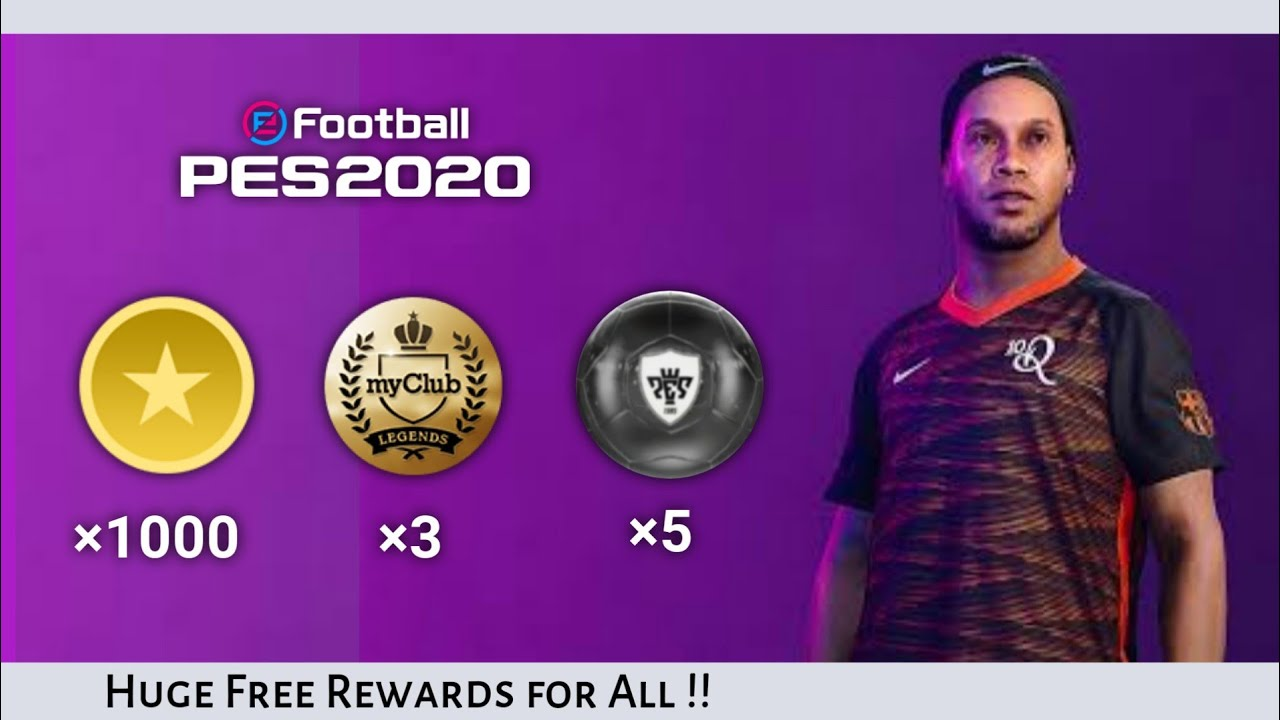 FREE 1000 CLUBCOINS and FREE LEGENDS Pes 2020 Mobile | Clubcoins and Legends ❣️ 90k spcl Giveaway