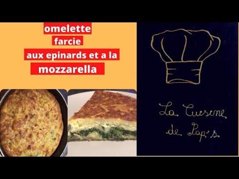 recette-de-l-omelette-farcie-aux-épinards-et-mozzarella-cuite-au-four-(facile)