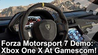 [4K] Forza Motorsport 7 Xbox One X Gamescom Demo: Sonoma Footage + Analysis!