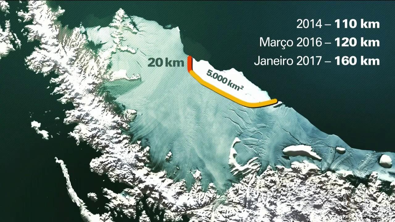 Fantástico (HD) - Iceberg Gigante Está se formando e Pode se Soltar a Qualquer Momento