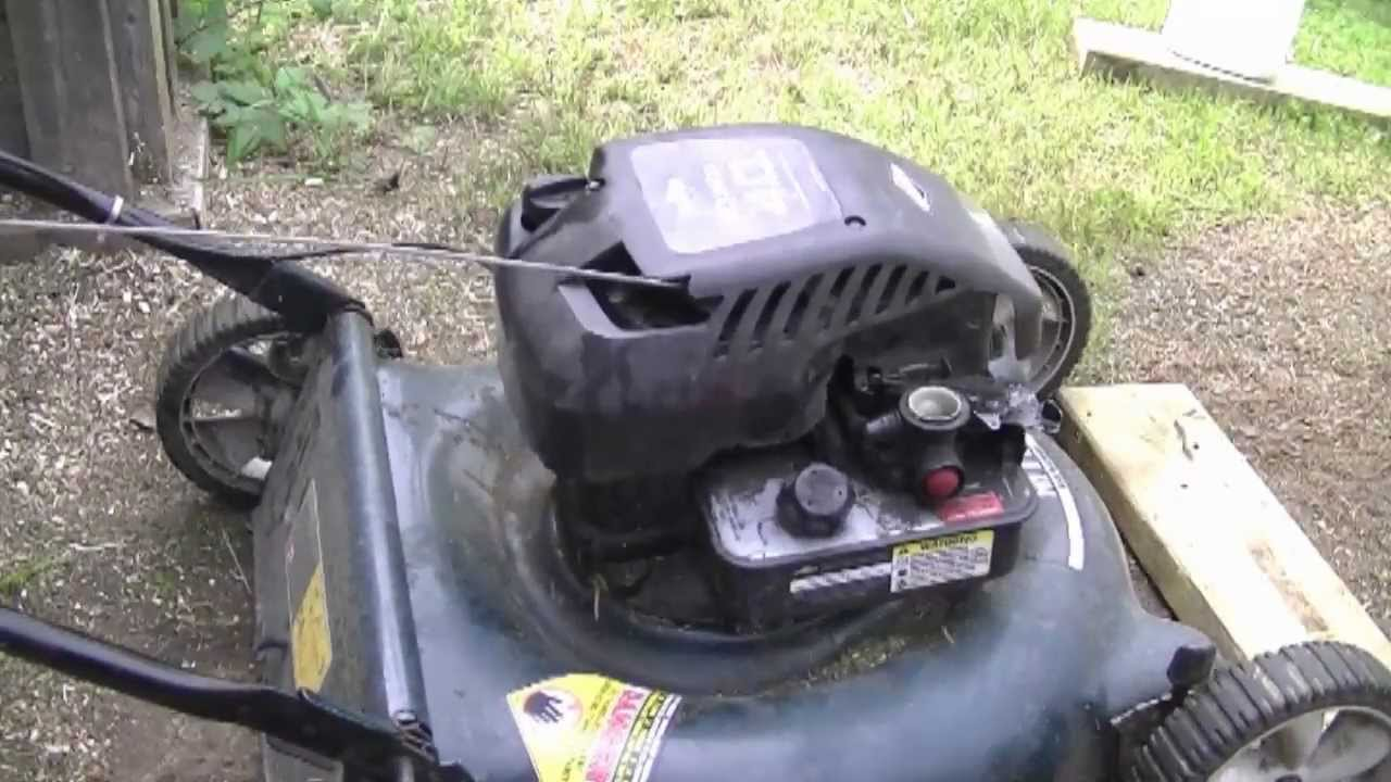 Brigg Stratton Lawn Mower Carburetor Diagram Time Master Wiring Whitehead Gas Valve How To Adjust The Engine Rpms On A Briggs And Lawnmower Rh Youtube Com