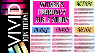 WOMEN'S MONTHLY BIBLE STUDY/FEBRUARY/ VIVID: Become Fully Awake
