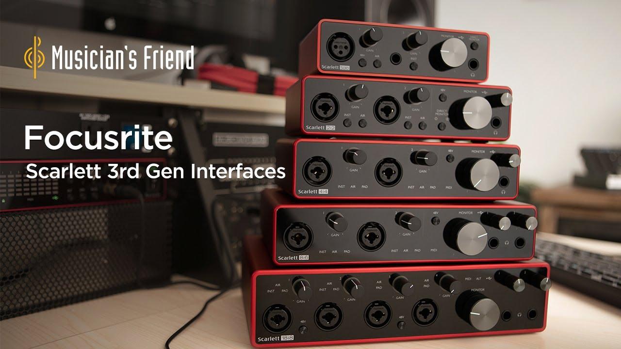 Scarlett 2i2 USB Audio Interface (Gen 3)