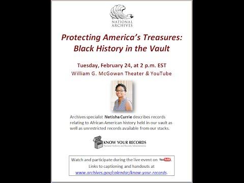 Protecting America's Treasures: Black History in the Vault  (broadcast 2015 Feb. 24)