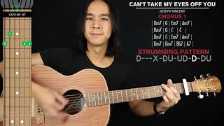 Can't Take My Eyes Off You Guitar Cover Joseph Vincent 🎸|Tabs + Chords|