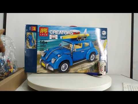 Mở hộp Lele 39007 Lego Creator 10252 Volkswagen Beetle giá sốc rẻ nhất