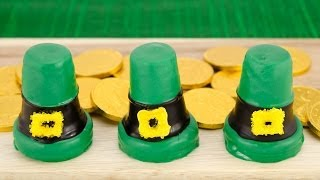 Leprechaun Hat Cupcakes for Saint Patrick