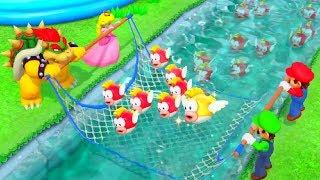 Super Mario Party Minigames - Bowser vs Peach vs Mario vs Luigi (Master CPU)