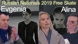 Evgenia Medvedeva vs Alina Zagitova - Russian Nationals 2019 FS Евгения МЕДВЕДЕВА vs Алина Загитова