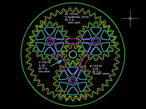 HOW TO: Draw Planetary Gear(TRUE INVOLUTE TEETH) with Autocad