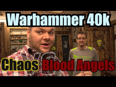 Chaos Space Marines vs Blood Angels Warhammer 40k 8th edition Battle Report Ep16
