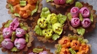 видео Рецепт белкового крема для цветов (мокрое безе)