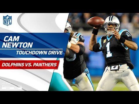 Cam Newton & Christian McCaffrey Deliver on Big TD Drive!   Dolphins vs. Panthers   NFL Wk 10