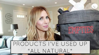 Empties: Natural Products We've Used Up | Summer Saldana