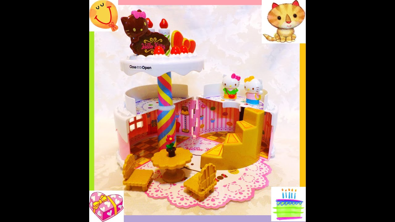 Video Photos Album Hello Kitty Birthday Cake House Playset Toy
