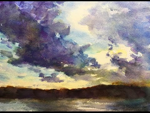 painting wet sand in watercolor funnycattv