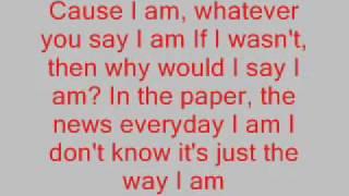 eminƎm-The Way I Am Lyrics.& sottotitoli in italiano ( The Marshall Mathers LP 2000)