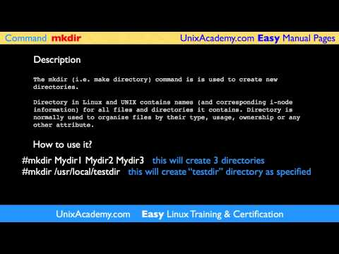 mkdir make directory linux unix command easy man manual pages by rh youtube com linux make manual pdf