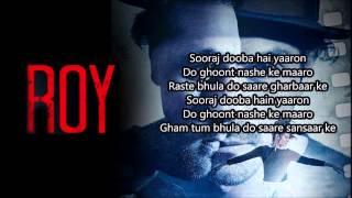 'Sooraj Dooba Hain' FULL Song   Roy   Arijit singh Ranbir Kapoor   Arjun Rampal   WITH LYRICS