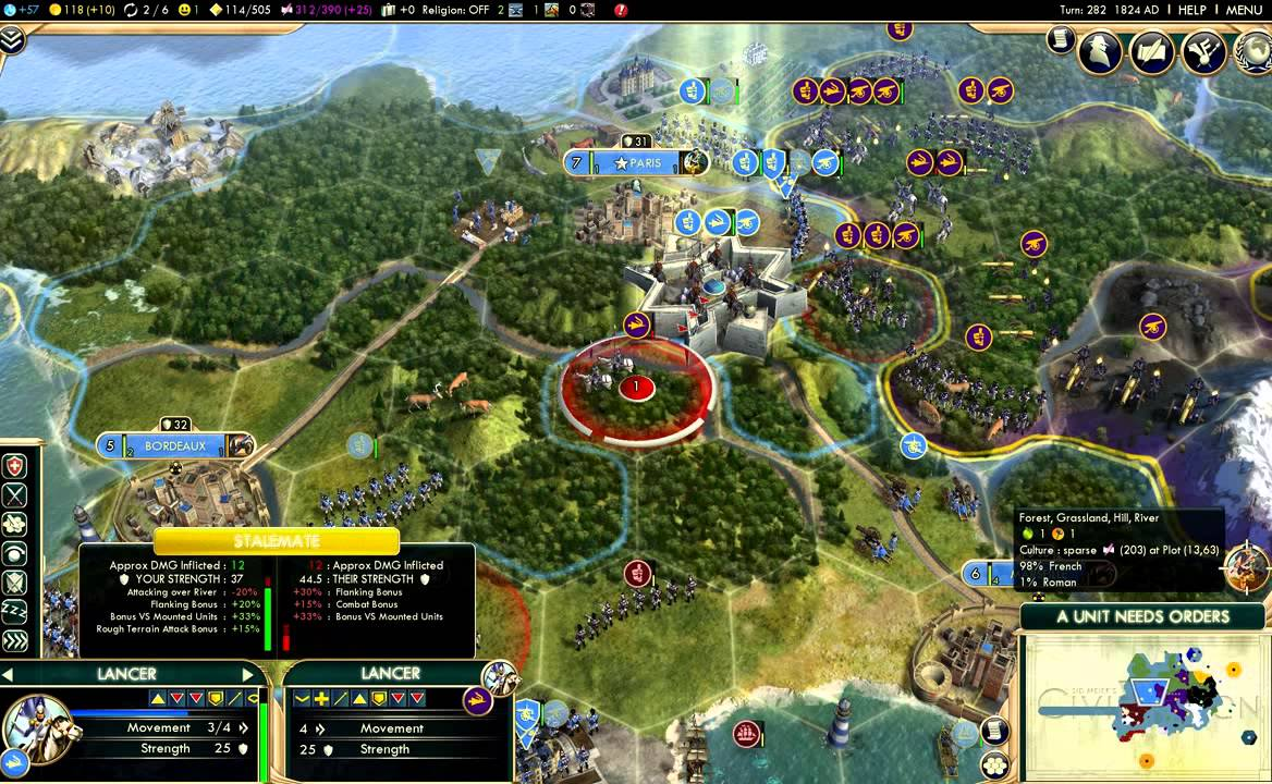 Combat & Stacking Overhaul (Civilization V mod)