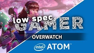 Super low resolution Overwatch on an Intel Atom (GPD Pocket with Improved BIOS - IntelHD)