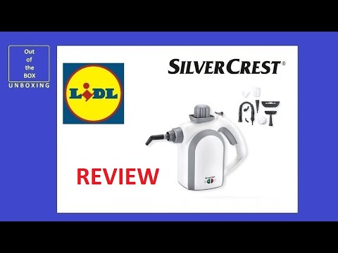 SilverCrest Hand-Held Steam Cleaner SDR 1100 C2 REVIEW (Lidl 950 1100 watt 350 ml)