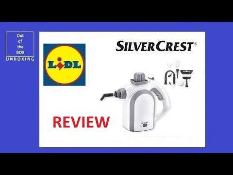 SilverCrest Hand-Held Steam Cleaner SDR 1100 C2 REVIEW (Lidl 950 1100 watt 350 ml)