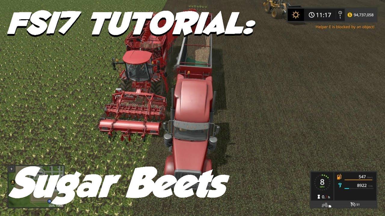 Farming Simulator 17 Tutorial Sugar Beets Youtube