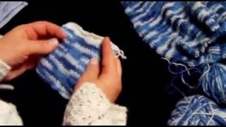 Болеро. Урок 1  Выбор ниток. Подготовка образца к расчету петель .