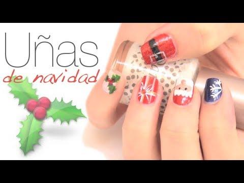 Dise os de u as para navidad youtube for Decoracion de unas para navidad