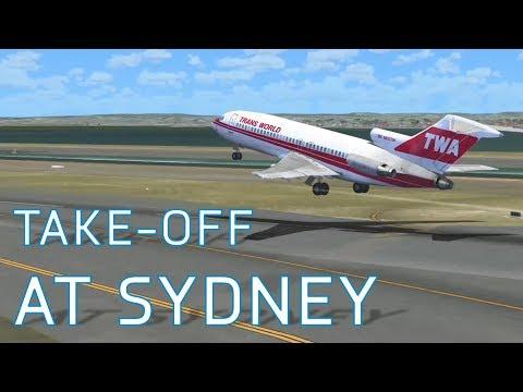 FSX Take-Off at Kingsford Smith (Sydney) | Boeing 727-200