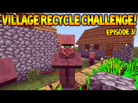 Minecraft Xbox - Village Recycle Challenge - Village Trading