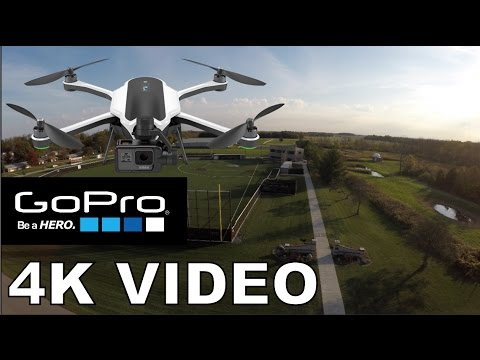 GoPro Karma Drone 4K Video And Gimble Footage