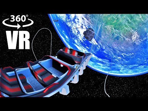Virtual Reality Roller Coaster in Space 360 video