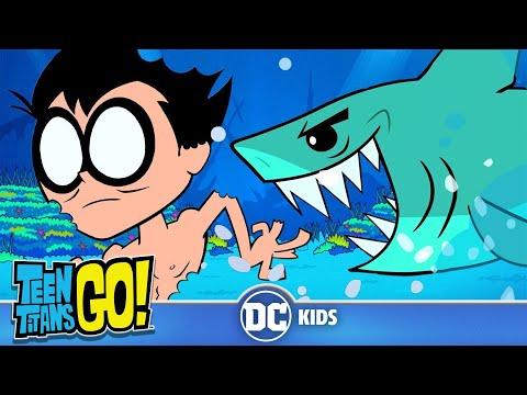 Teen Titans Go em Português  Semana dos Tubarões  DC Kids