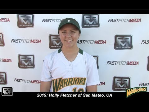 2019 Holly Fletcher Pitcher Softball Skills Video - West Bay Warriors