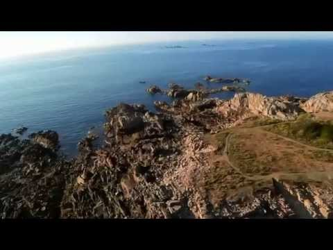 Aerial video over Grandes Rocques Battery, Guernsey