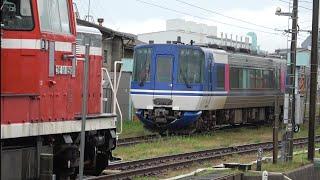 DE10形牽引のHOT7000形2両の後藤出場回送を後藤駅で撮影(2020/6/26)