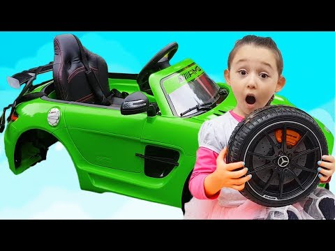 Learn Colors With Öykü - The wheel feel off on POWER Eheel Funny Baby Drive on Mercedes AMG