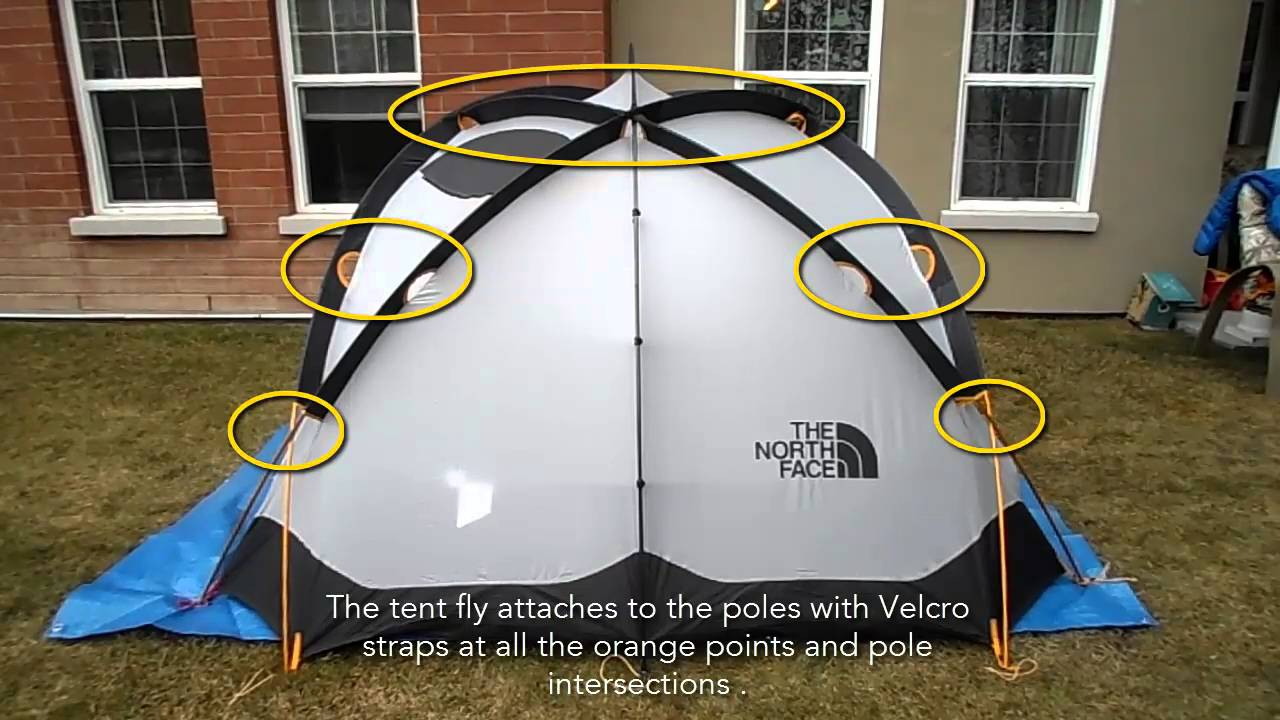 & The North Face Bastion 4 Tent 4 Season 4 person tent - YouTube