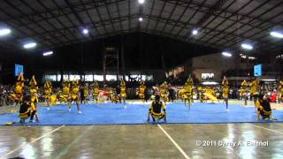 Bukidnon State University Cheerdance Competition 2011 CHAMPION - CBAHPG [HD]
