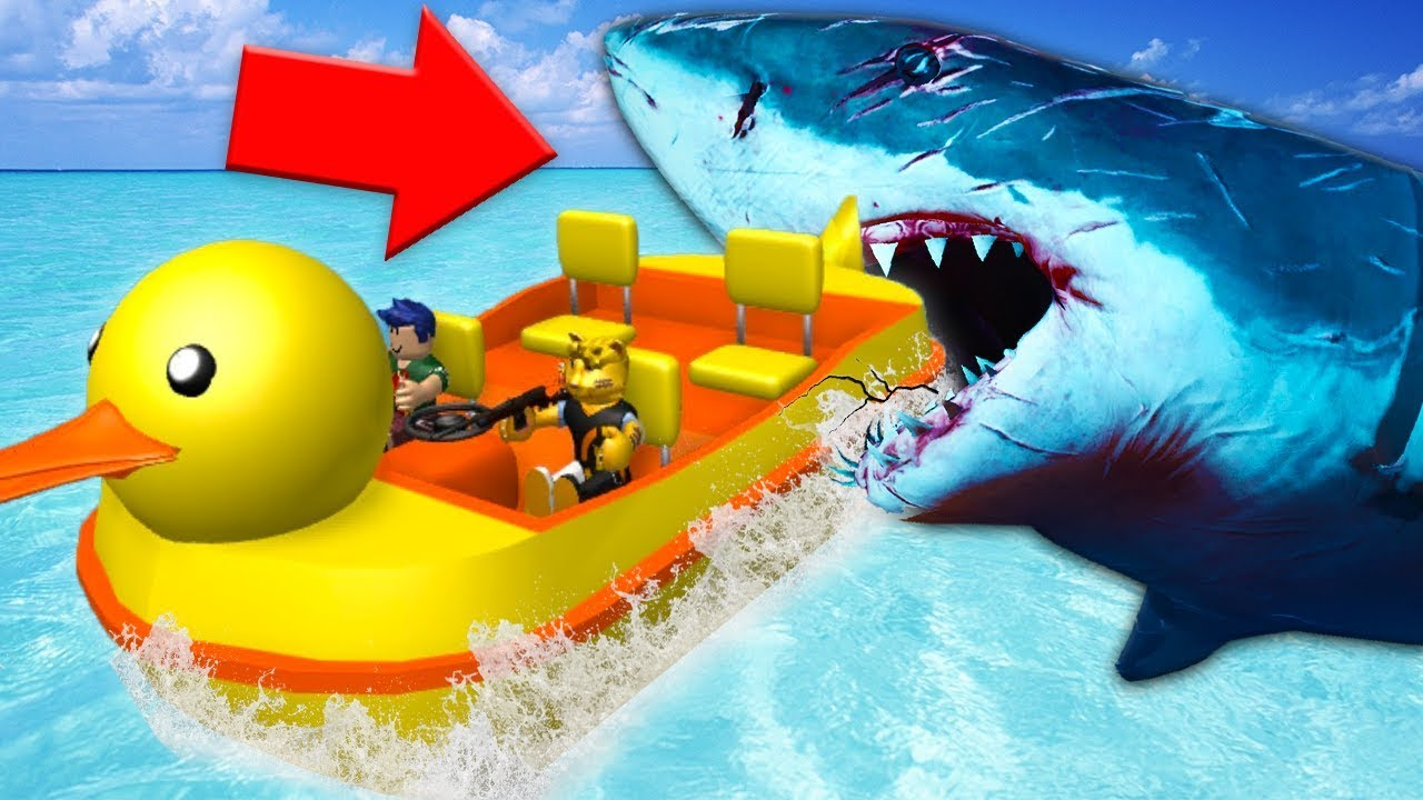 Shark Attacked Our Boat Roblox W Leah Youtube