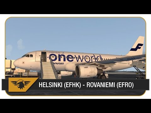 Welcome on board... FIN439L | Helsinki (EFHK) - Rovaniemi (EFRO) | FSX | Aerosoft Airbus A319